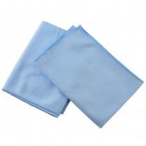 MICROFIBER GLASS CLOTH - 16X16 BLUE