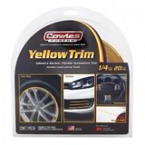 "Cowles Custom Yellow Trim 1/4"" x 20'"