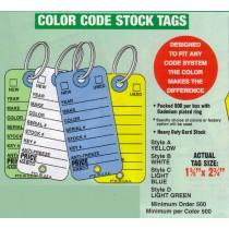 NABCO Key Tags: Color Code Vehicle Stock Tags