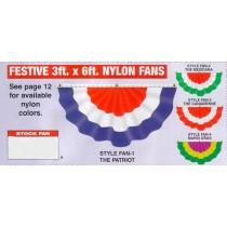 NABCO Stock Fans: Festive 3ft x 6ft Nylon Fans
