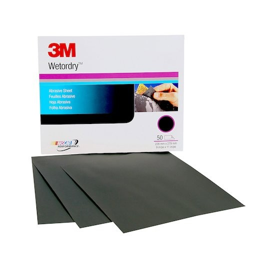 3M Wet or dry Abrasive Sheet, 02020, 9 in x 11 in, 2000, (Each Sheet)
