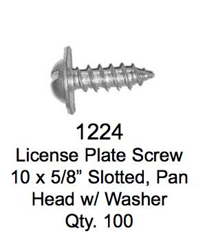 License Plate Fasteners 1224 License Plate Screw