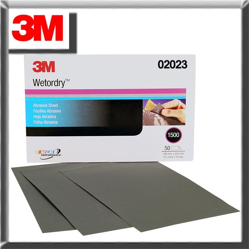 3M Wetordry Sheet, 1500 GRIT, 5.5 x 9 inch 02023