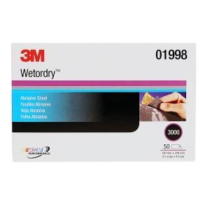 3M Wetordry Sheet, 3000 GRIT, 5.5 X 9 INCH 01998