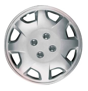 Wheel Covers: Premier Series: 124 Silver