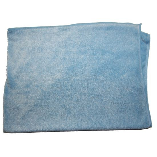 PLUSH MICROFIBER CLOTH 24X33 BLUE