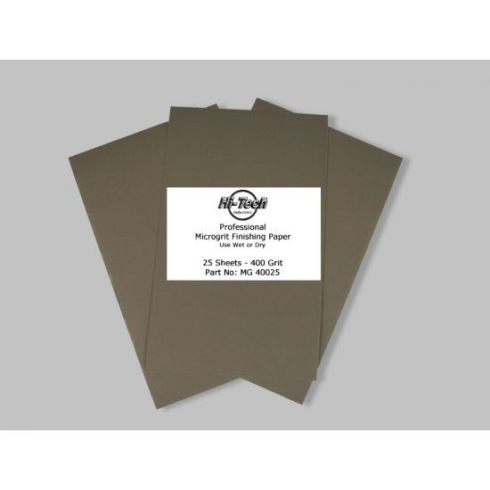 MICROGRIT W/DRY FIN PAPER 400 GRIT 25PK