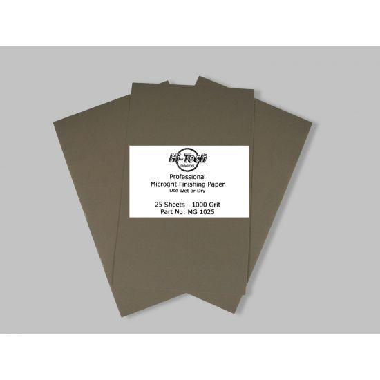 MICROGRIT WET/DRY FINISHING PAPER 1000 GRIT 25PK