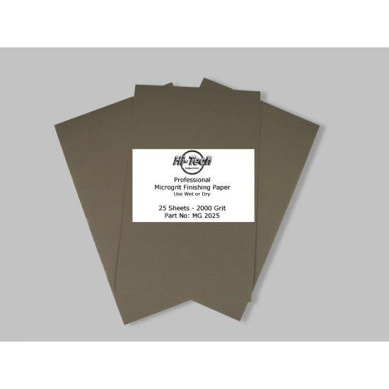MICROGRIT WET/DRY FINISHING PAPER 2000 GRIT 25PK