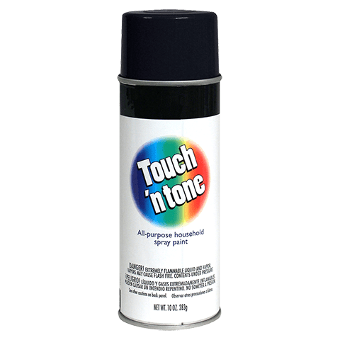 Touch N Tone Gloss Black Spray Paint