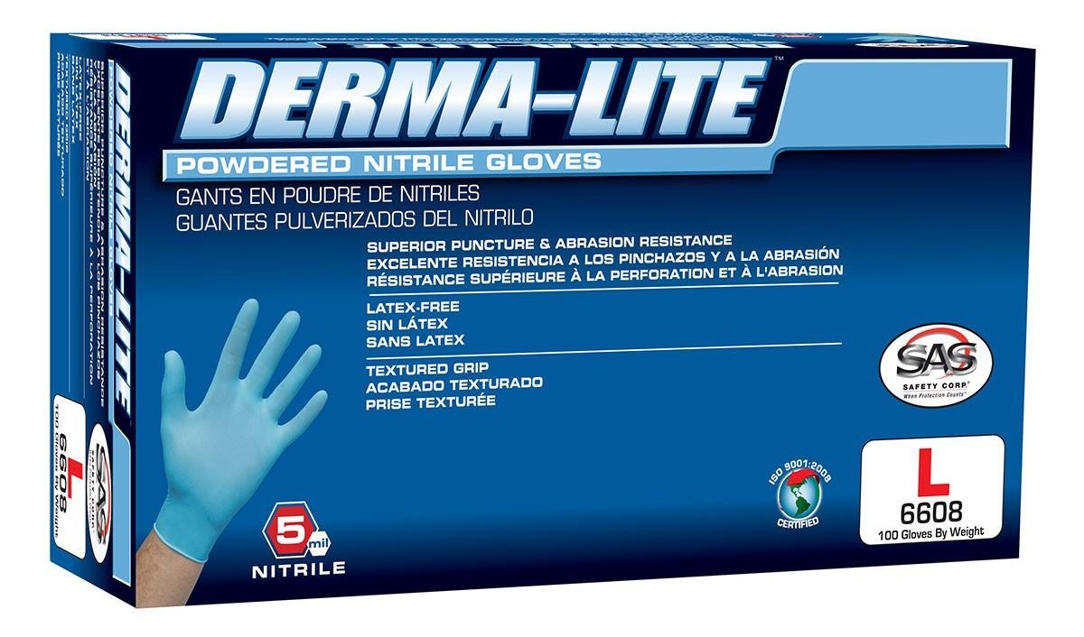 Derma-Lite Nitrile Disposable Gloves (Powdered)