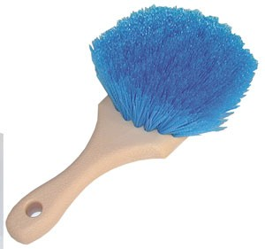 Heavy Duty Wheel, Fender and Wheel Well Scrub Brush-Blue Polypropylene