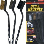 Toothbrush Style Detail/Scratch Brushes- 3-pack