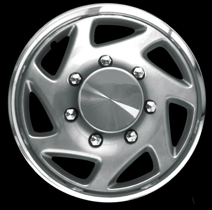 Wheel Covers:Premier Series: 94 Silver w/ Chrome Band