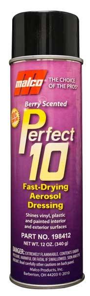 VOC Perfect 10 Fast-Drying Aerosol Dressing 11oz. Case of 12