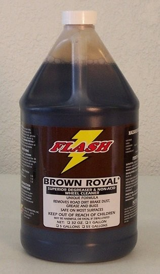Flash Brown Royal Non-Acid Wheel & Tire Cleaner 5Gal