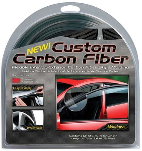 "Cowles Custom Carbon Fiber 3/4"" x 12' Black"