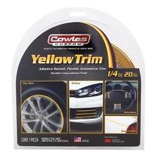 "Cowles Custom Yellow Trim 1/4"" x 20'"