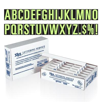 Chartreuse Adhesive Alphabet Letter Starter Kit