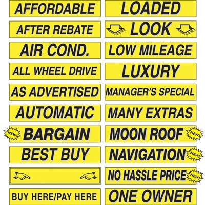 15 inch Yellow & Black Sign