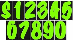 Chartreuse Designer Adhesive Number