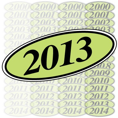 Chartreuse & Black Oval Year Model