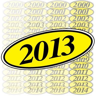 Black & Yellow Oval Year Model