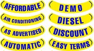 Blue & Yellow Reverse Arch Slogan