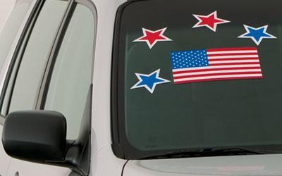 Large Adhesive U.S. Flag