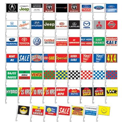 Clip-On Car Flag