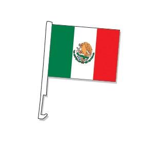 Clip-On Mexico Car Window Flag