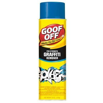 Goof Off Graffiti Remover, Aerosol 18-Ounce