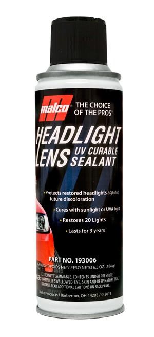 Headlight Lens UV Curable Sealant 6.5oz.