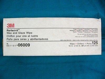 3M 06009 Perfect-It Wax and Glaze Wipe 125 per box
