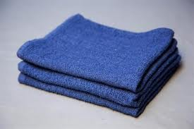 "Blue Cotton Terry Towel-26""x16""(pack of 12)"