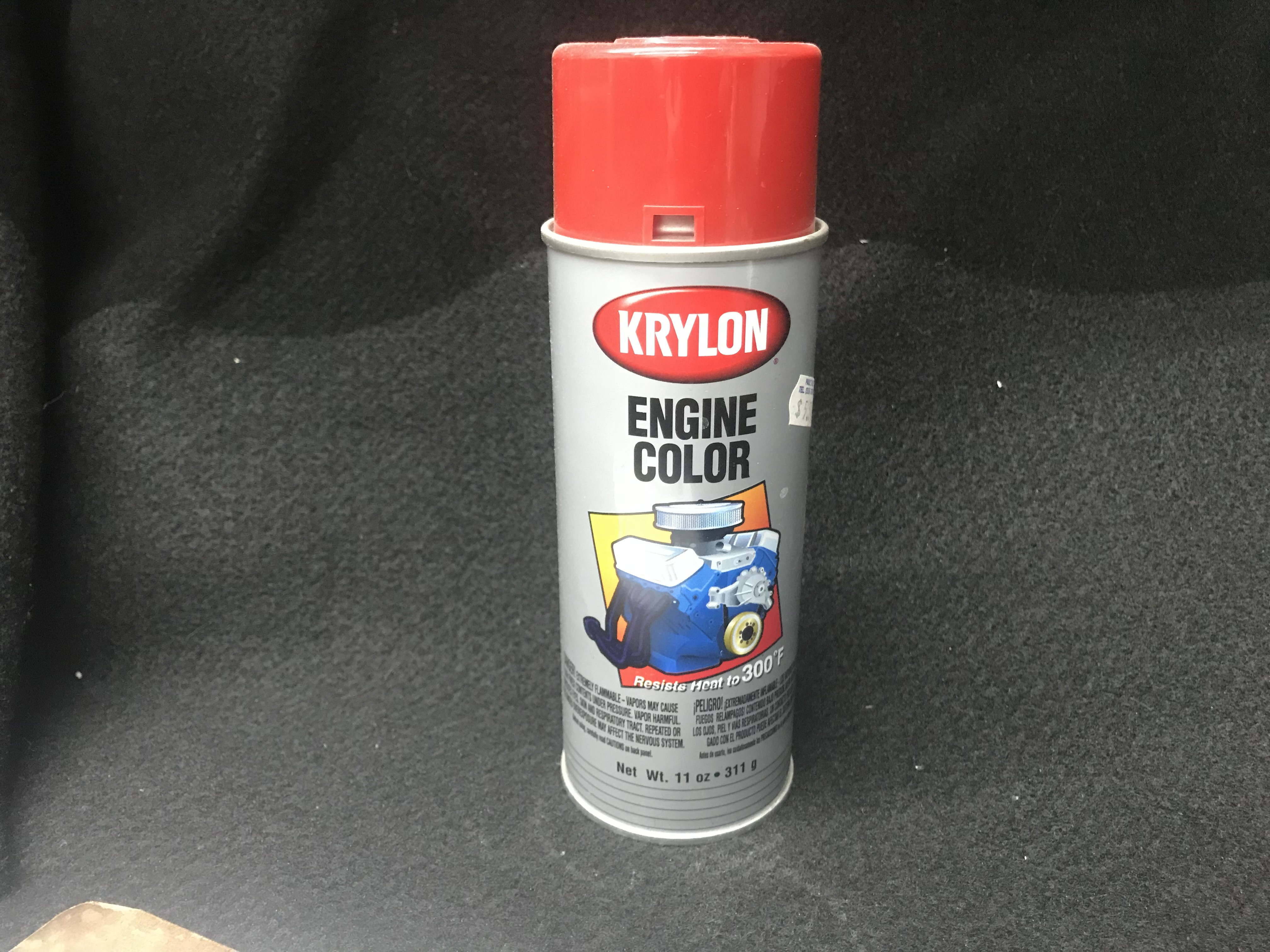 Krylon Chrysler Red Engine Paint