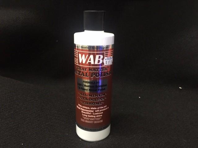 WAB Gray Matter Metal Polish (1) 16 oz btl