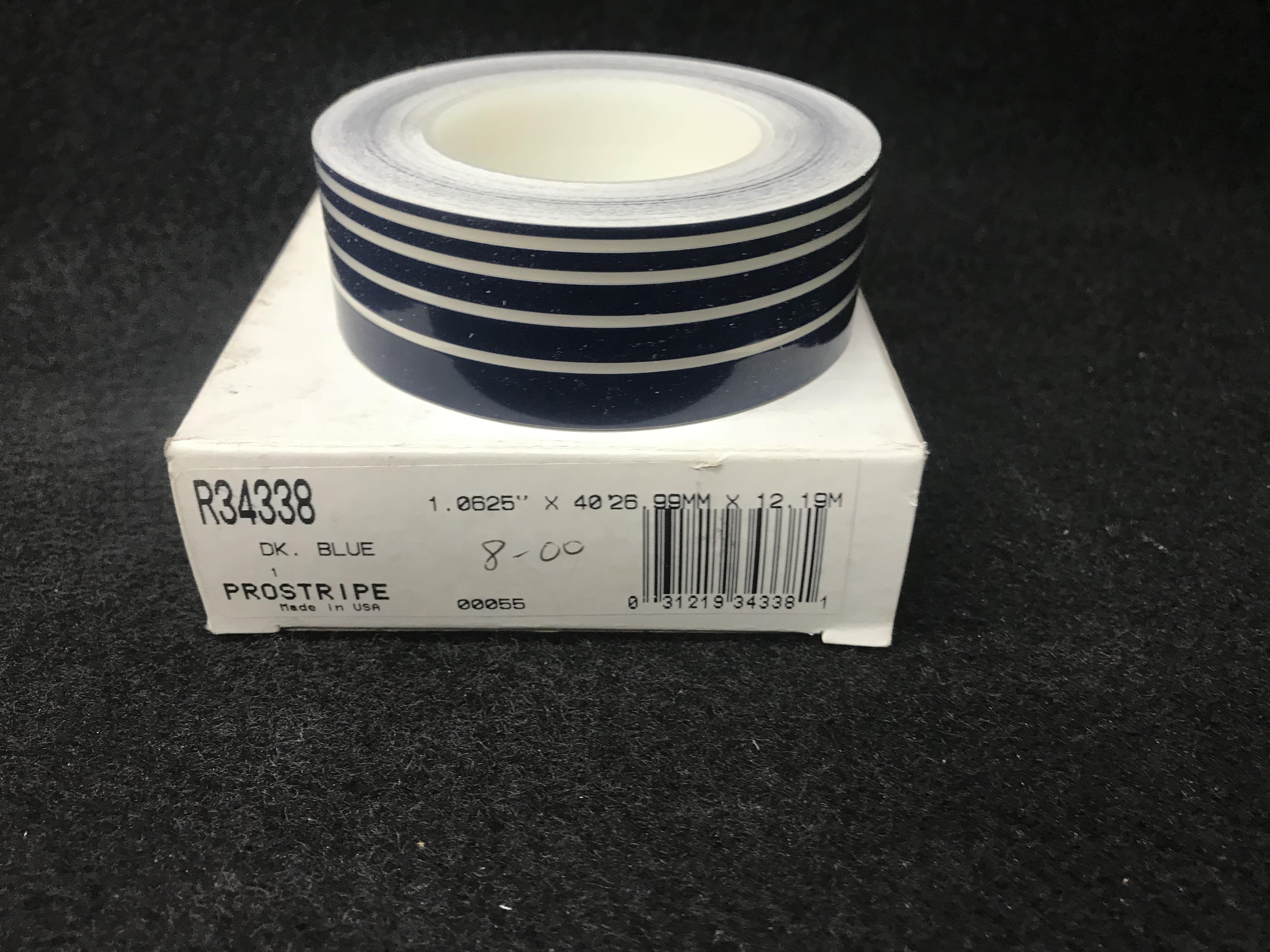 """ProStripe R34338 Dark Blue Multi Stripe 1/8"""" x 40'"""