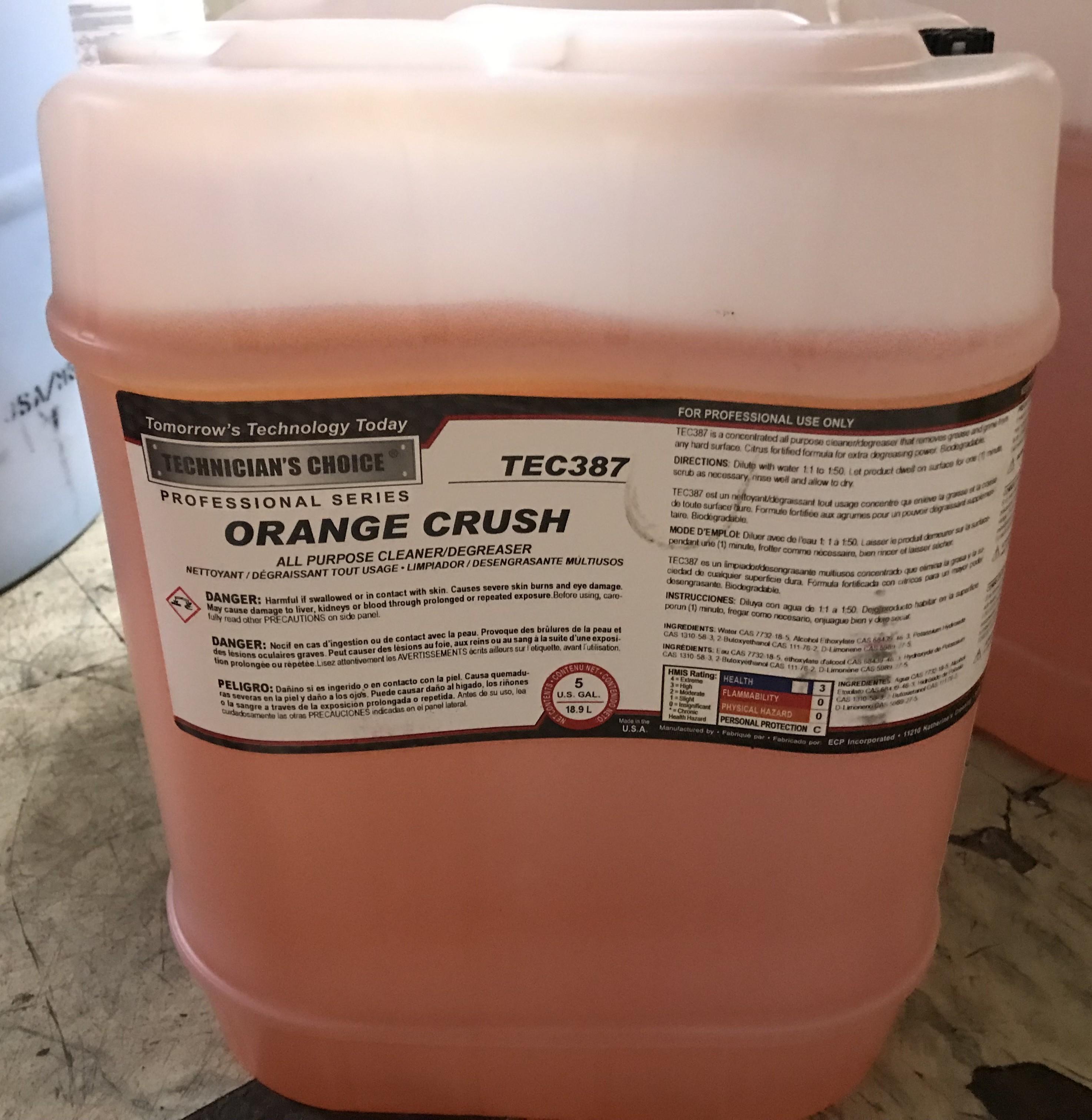 TEC387 Orange Crush All Purpose Cleaner-5gal