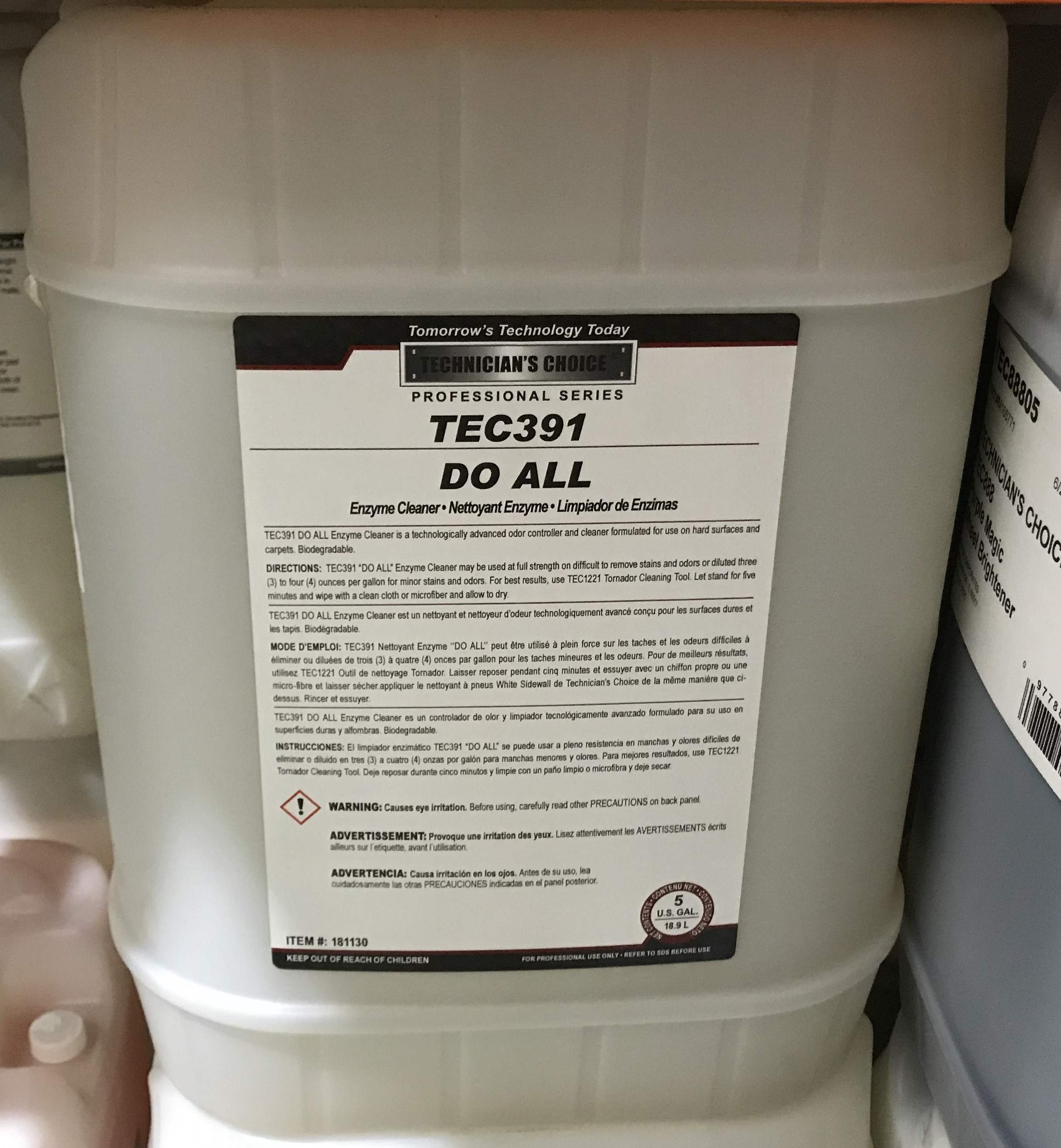 TEC391 Do All Enzyme Cleaner (5Gallon)