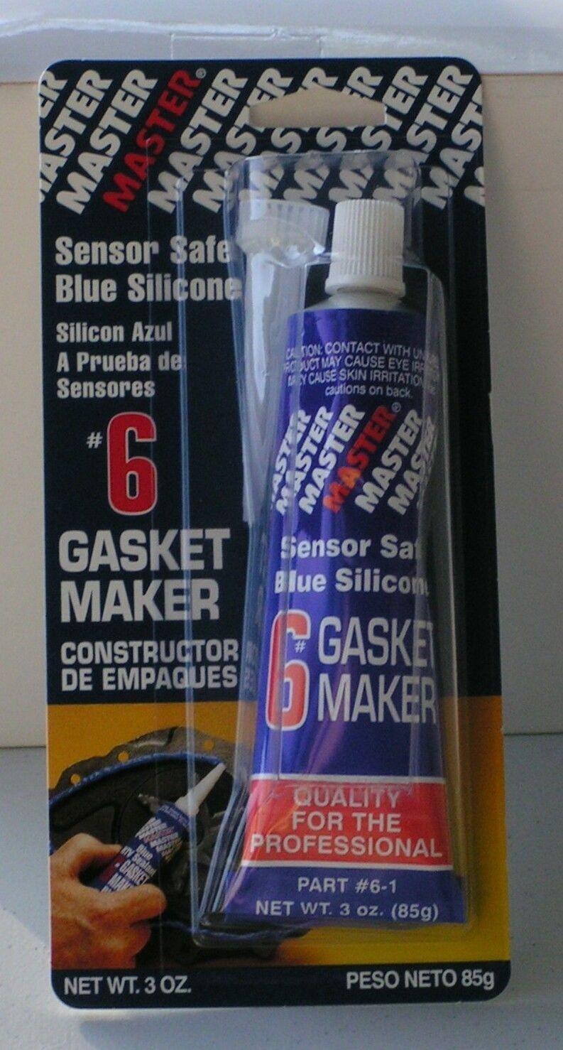 Master #6 - Sensor Safe Blue RTV Silicone Gasket Maker 3 Oz Tube