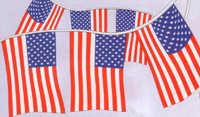 NABCO American Flags: American Stars & Stripes-4mil Poly