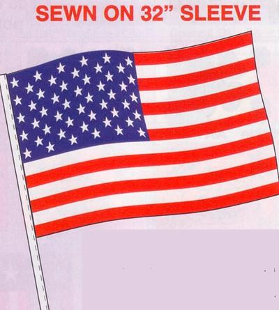 NABCO Antenna Pennants and Fringe: American Flag-Antenna Flag (DOZEN)