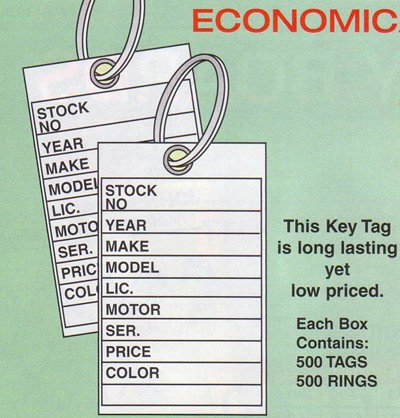 NABCO Key Tags: Traditional key tags, economical