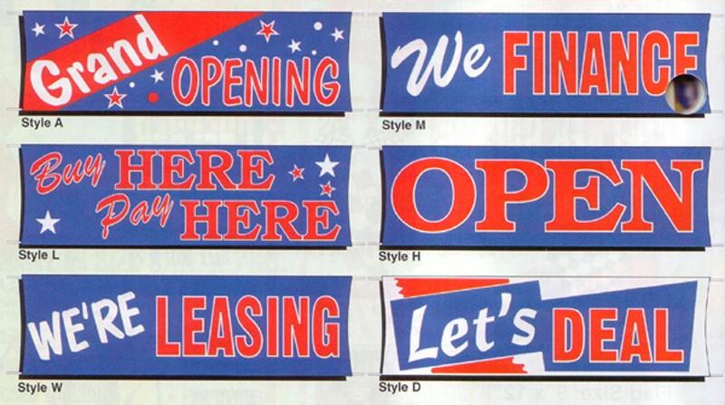 NABCO Decorative Flags: Heavy Duty Flourescent Stock Banners, Giant 3' x 10'