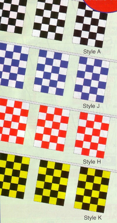 NABCO Pennants: Checkered Race Track Starter Pennants: 4 Mil. Economy