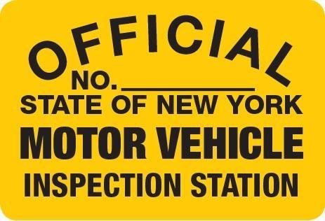 Metal Sign NYS- EC Emmissions Control