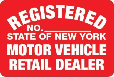 Metal Sign NYS- RD Retail Dealer