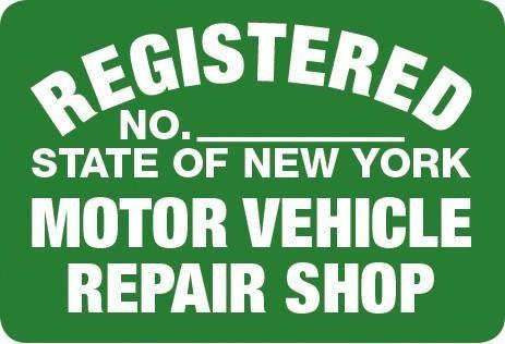 Metal Sign NYS- RS Repair Shop
