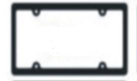 Black License Plate Frames